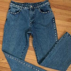 High waist vintage bling wrangler 100 % cotton
